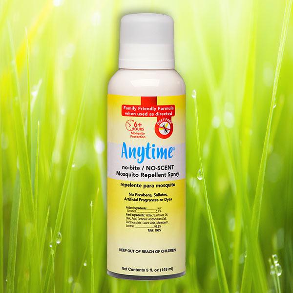 ANYTIME® no-bite/NO-SCENT Mosquito Repellent Spray