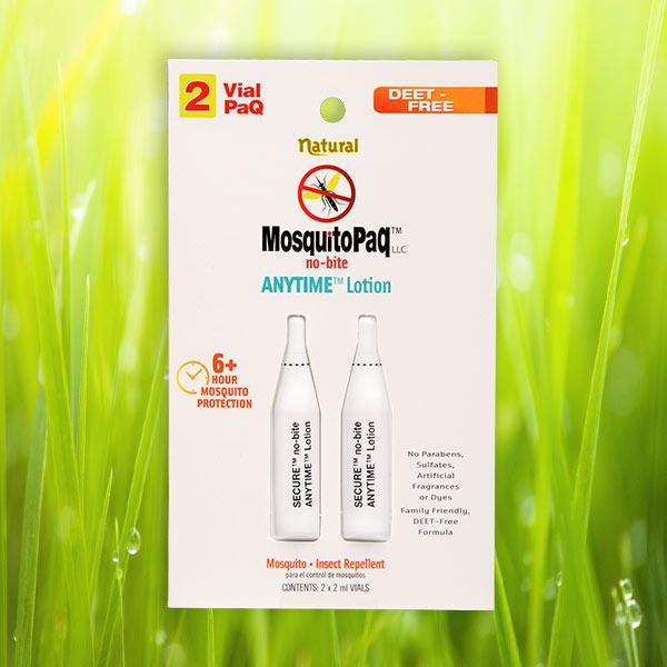 ANYTIME® no-bite Mosquito Repellent Lotion 2 VialPaQ Card