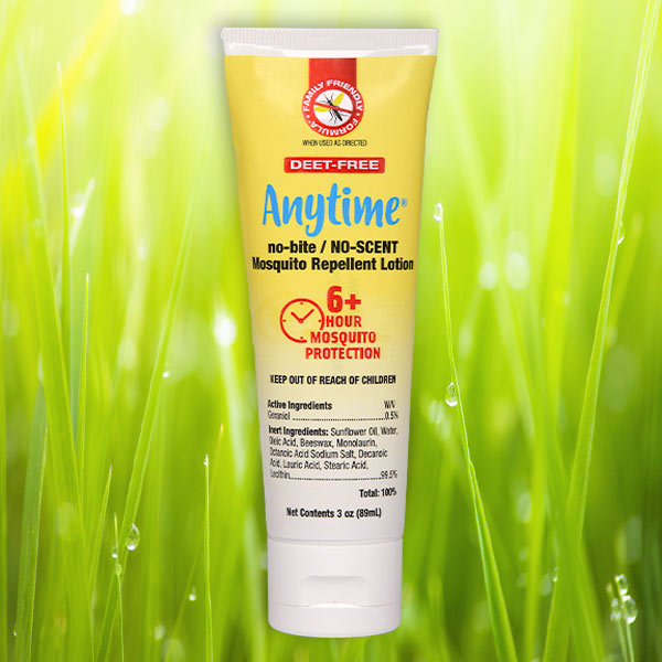 ANYTIME® no-bite/NO-SCENT Mosquito Repellent Lotion