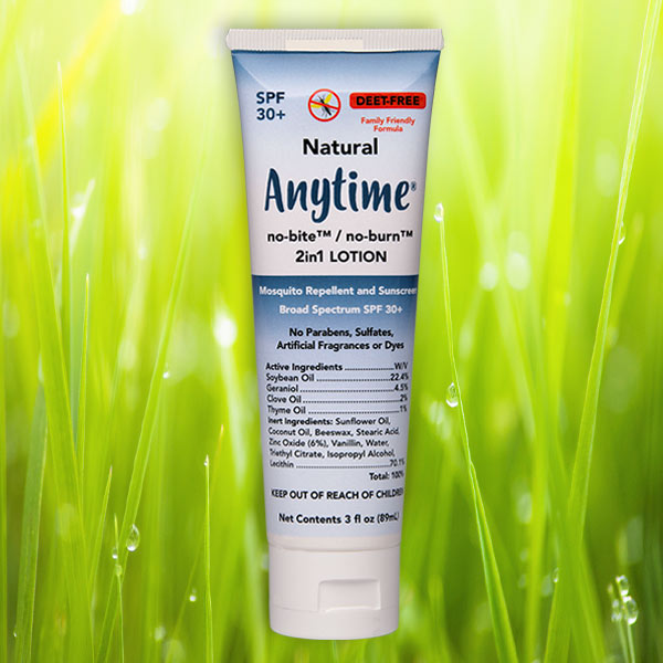 ANYTIME® no-bite/no-burn 2-in-1 Mosquito Repellent and Sunscreen Lotion